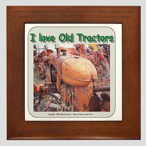 I love old AC tractors Framed Tile