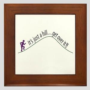 Get Over It (Running) Framed Tile