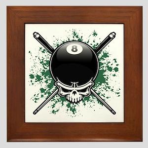 Pool Pirate II splat Framed Tile