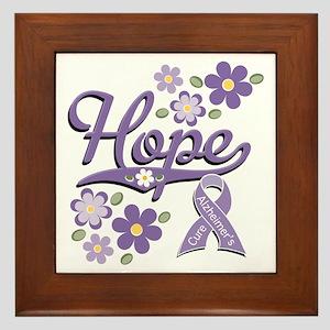 Hope Alzheimer's Awareness Framed Tile
