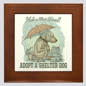 Best Friend Rescue Dog Framed Tile