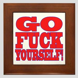 Go F Yourself Framed Tile