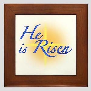 He is Risen Framed Tile
