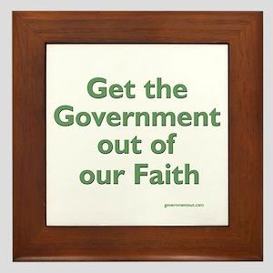 Get Government Out Framed Tile