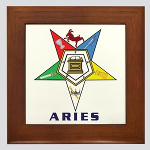 OES Aries Sign Framed Tile