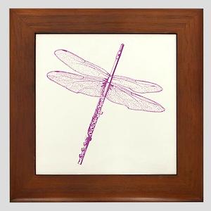 Dragonfly Flute Framed Tile