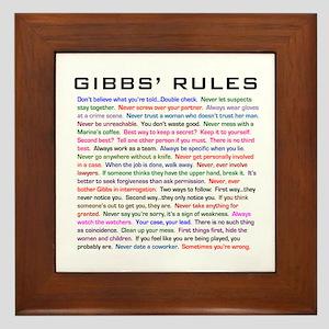 NCIS Gibbs' Rules Framed Tile