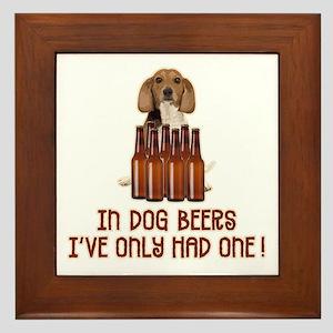 In Dog Beers ... Framed Tile