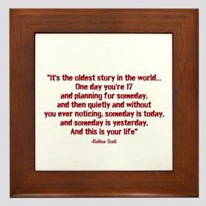Nathan Quote (Tree Hill) Framed Tile