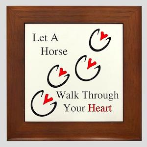 Horse Hoof Hearts Framed Tile