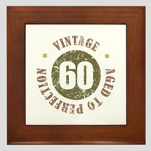 60th Vintage birthday Framed Tile