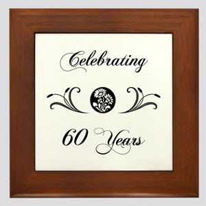60th Anniversary (b&w) Framed Tile