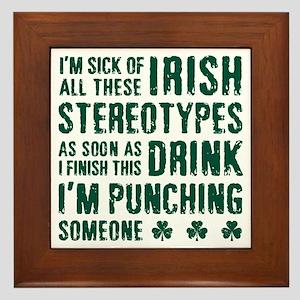 Irish Stereotypes Framed Tile
