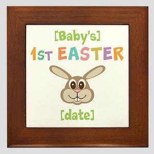 PERSONALIZE 1st Easter Bunny Framed Tile