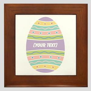 Your Text Easter Egg Framed Tile