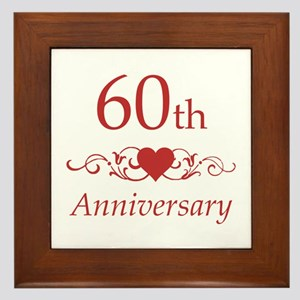60th Wedding Anniversary Framed Tile