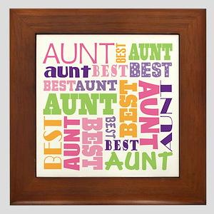 Best Aunt Design Gift Framed Tile