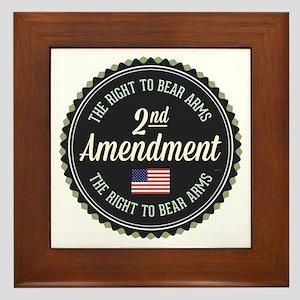 Second Amendment Framed Tile