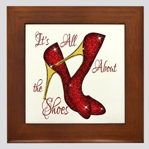 Red Ruby Slippers Framed Tile
