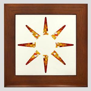 Painted Sun Framed Tile