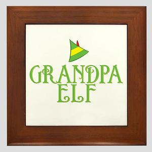 Grandpa Elf Framed Tile