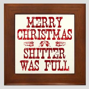 Red Merry Christmas, Shitter Was Full Framed Tile