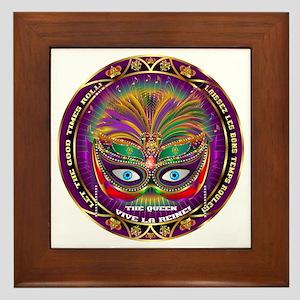 Mardi Gras Queen 8 Framed Tile
