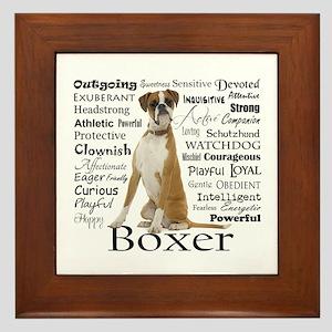Boxer Traits Framed Tile