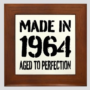 1964 Aged To Perfection Birthday Framed Tile