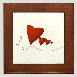 Heartbeats - Framed Tile