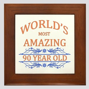 World's Most Amazing 90 Year Old Framed Tile