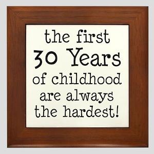 30 Years Childhood Framed Tile