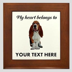 Personalized Basset Hound Framed Tile