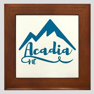 Acadia Maine Framed Tile
