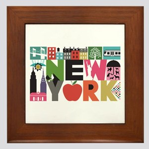 Unique New York - Block by Block Framed Tile