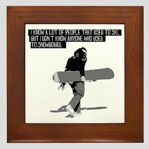 Snowboarder Framed Tile