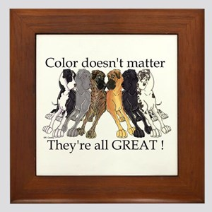 N6 Color Doesn't Matter Framed Tile