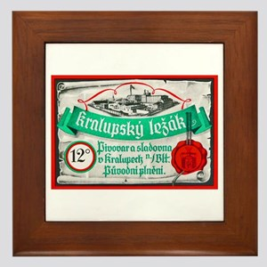 Czech Beer Label 14 Framed Tile