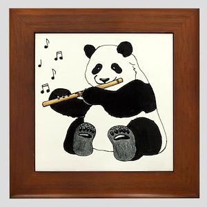 cafepress panda1 Framed Tile