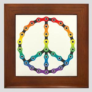 peace chain vivid Framed Tile