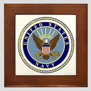 Navy-Logo-9 Framed Tile