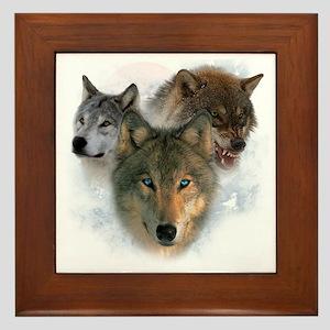 wolves Framed Tile