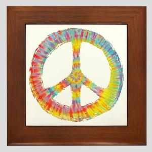 tiedye-peace-713-DKT Framed Tile