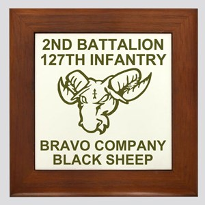 ARNG-127th-Infantry-B-Co-Black-Sheep-S Framed Tile