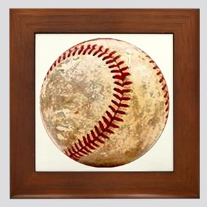 baseball_ball Framed Tile