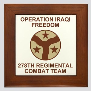 ARNG-278th-RCT-Iraqi-Freedom-Subdued.g Framed Tile