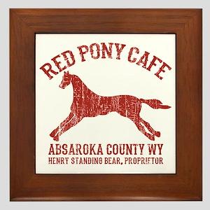 Longmire Red Pony Framed Tile