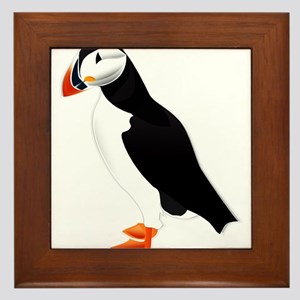 Pretty Puffin Framed Tile