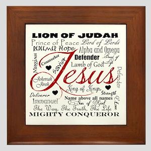 The Name of Jesus Framed Tile
