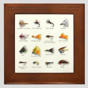 Flies Framed Tile